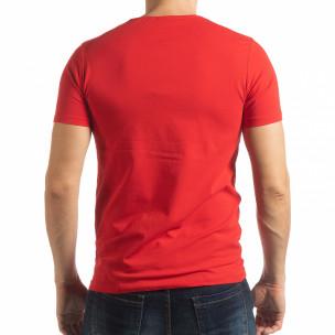 Ανδρική κόκκινη κοντομάνικη μπλούζα ART  2