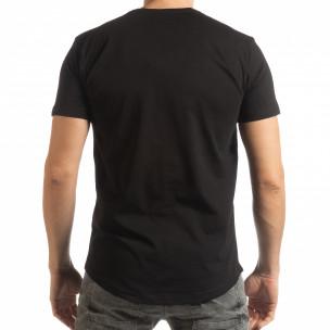 Ανδρική μαύρη κοντομάνικη μπλούζα με νεκροκεφαλή 2