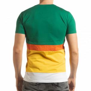 Ανδρική πολύχρωμη κοντομάνικη μπλούζα   2