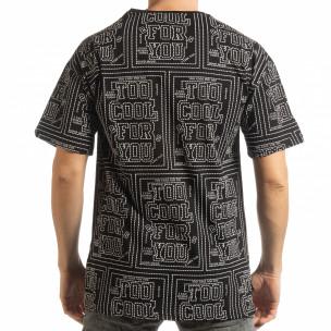 Ανδρική μαύρη κοντομάνικη μπλούζα  2