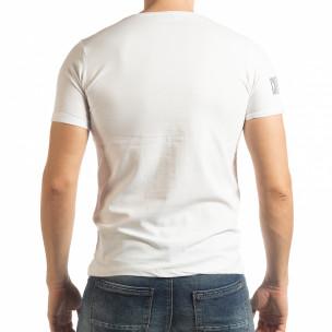 Ανδρική λευκή κοντομάνικη μπλούζα Resurrection 2