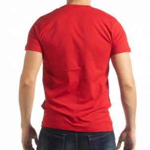 Ανδρική κόκκινη κοντομάνικη μπλούζα Sound  2