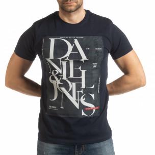 Ανδρική μπλε κοντομάνικη μπλούζα Denim Company  2