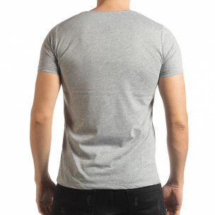 Ανδρική γκρι κοντομάνικη μπλούζα Criticize 2