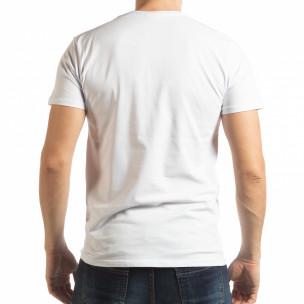 Ανδρική λευκή κοντομάνικη μπλούζα  Street Run 2