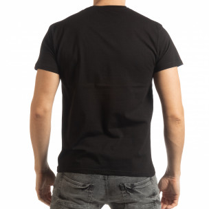 Ανδρική μαύρη κοντομάνικη μπλούζα Street Run 2