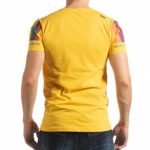 Ανδρική κίτρινη κοντομάνικη μπλούζα MTV Life 2