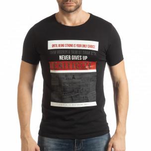 Ανδρική μαύρη κοντομάνικη μπλούζα Criticize