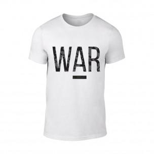 Κοντομάνικη μπλούζα War λευκό