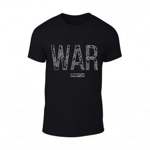 Κοντομάνικη μπλούζα War μαύρο