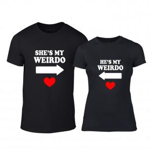 Μπλουζες για ζευγάρια Weirdo μαύρο