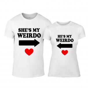 Μπλουζες για ζευγάρια Weirdo λευκό