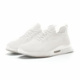 Ανδρικά λευκά αθλητικά παπούτσια Hole design ελαφρύ μοντέλο 2