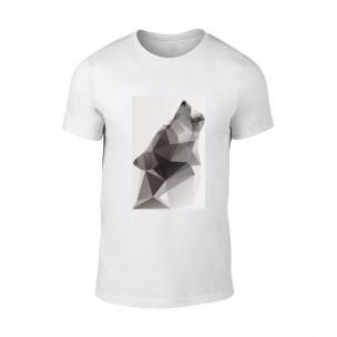 Κοντομάνικη μπλούζα Wolf 2 λευκό TEEMAN