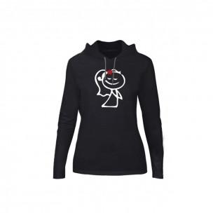 Γυναικεία Μπλούζα Love Gift μαύρο, Μέγεθος XL