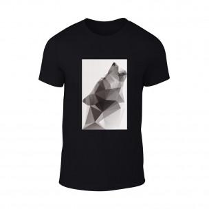 Κοντομάνικη μπλούζα Wolf 2 μαύρο