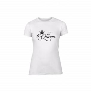 Γυναικεία Μπλούζα King & Queen λευκό Χρώμα Μέγεθος XL