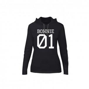 Γυναικεία Μπλούζα Bonnie 01 & Clyde 01 μαύρο, Μέγεθος M