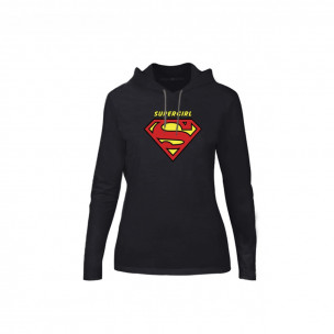 Γυναικεία Μπλούζα Superman & Supergirl μαύρο, Μέγεθος S