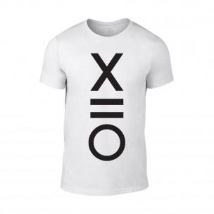 Κοντομάνικη μπλούζα XO λευκό