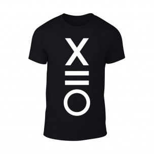 Κοντομάνικη μπλούζα XO μαύρο