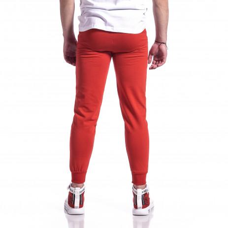 Ανδρική κόκκινη φόρμα βαμβάκι Basic 2