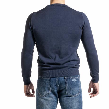 Ανδρικό γαλάζιο πουλόβερ Code Casual 2