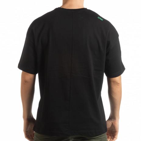 Ανδρική μαύρη κοντομάνικη μπλούζα Imagination 2