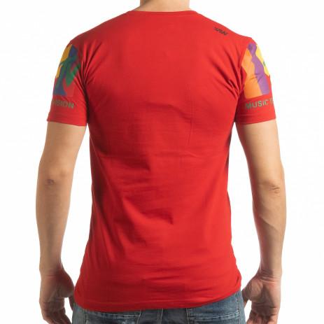 Ανδρική κόκκινη κοντομάνικη μπλούζα MTV Life 2