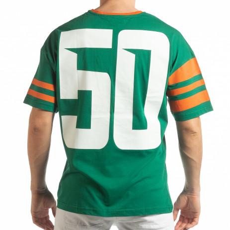 Ανδρική πράσινη κοντομάνικη μπλούζα The Wave 2