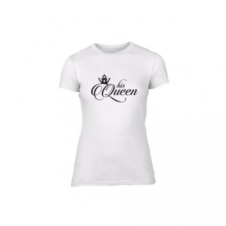 Γυναικεία Μπλούζα King & Queen λευκό Χρώμα Μέγεθος L