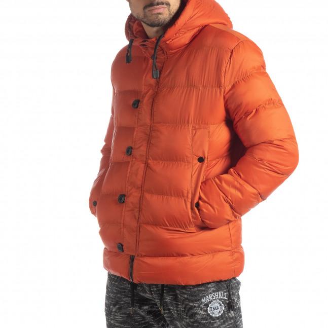 f6355428a6f Ανδρικό πορτοκαλί χειμερινό μπουφάν it051218-69 - Fashionmix.gr