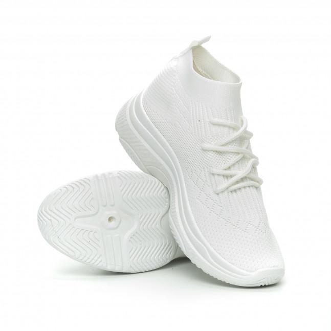 63ee6038a05 ... Γυναικεία λευκά αθλητικά παπούτσια κάλτσα Chunky it150319-42 3 ...