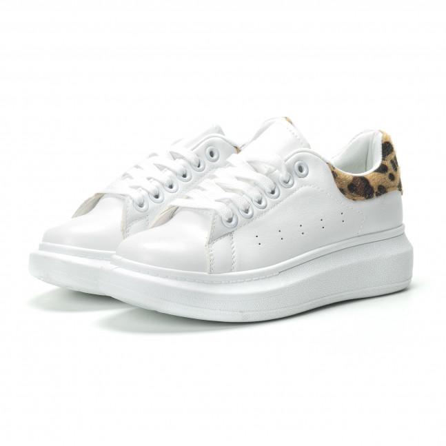 ... Γυναικεία λευκά sneakers με λεοπάρ λεπτομέρεια it250119-94 3 ... 83d9b1aaa10