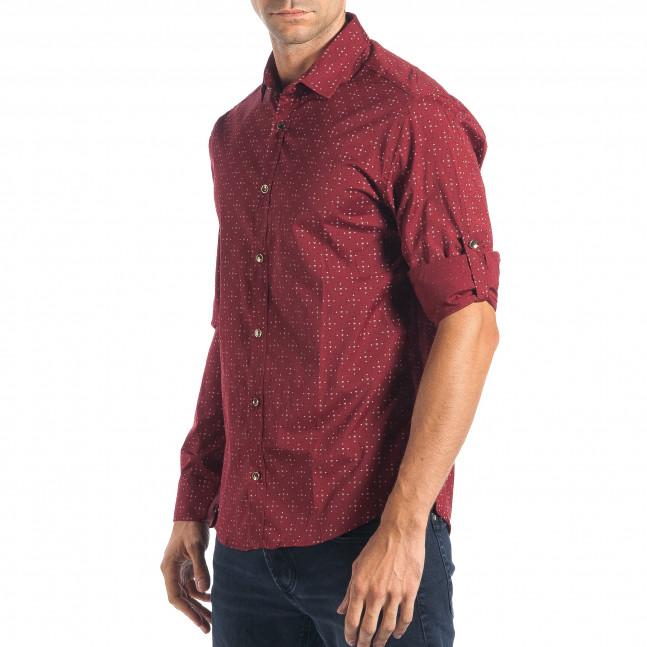 e5aad2b444a9 Ανδρικό κόκκινο πουκάμισο Mario Puzo tsf270917-5 - Fashionmix.gr