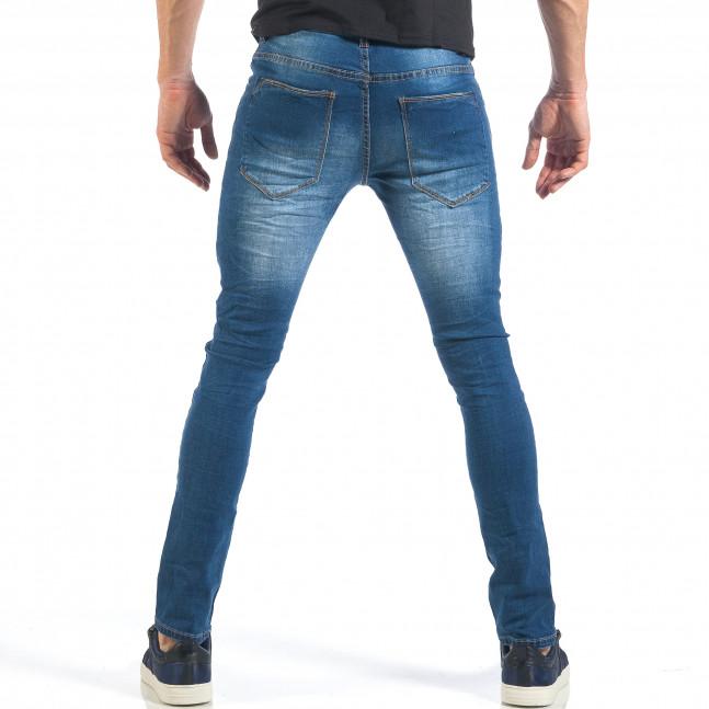 Ανδρικό γαλάζιο τζιν Slim fit με σκισίματα it260318-86 - Fashionmix.gr 95351e1c6b6