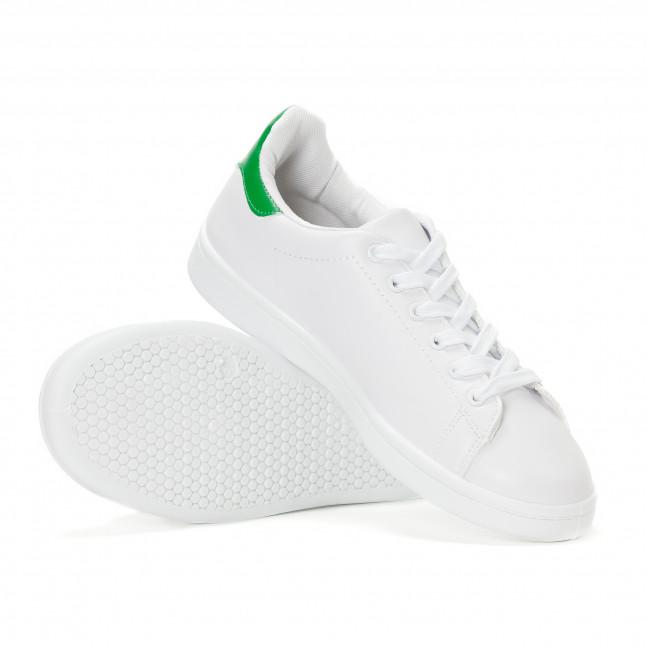 ... Γυναικεία λευκά sneakers με πράσινη λεπτομέρεια στη φτέρνα it230418-5 4 13aab1a340e