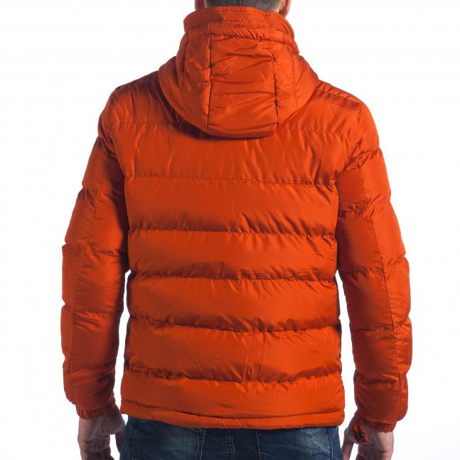 03a24575abb Ανδρικό πορτοκαλί χειμωνιάτικο μπουφάν Bread & Buttons it041217-3 ...