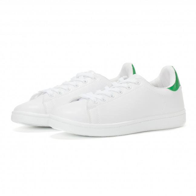 ... Γυναικεία λευκά sneakers με πράσινη λεπτομέρεια στη φτέρνα it230418-5 3  ... 9ffd594c41e