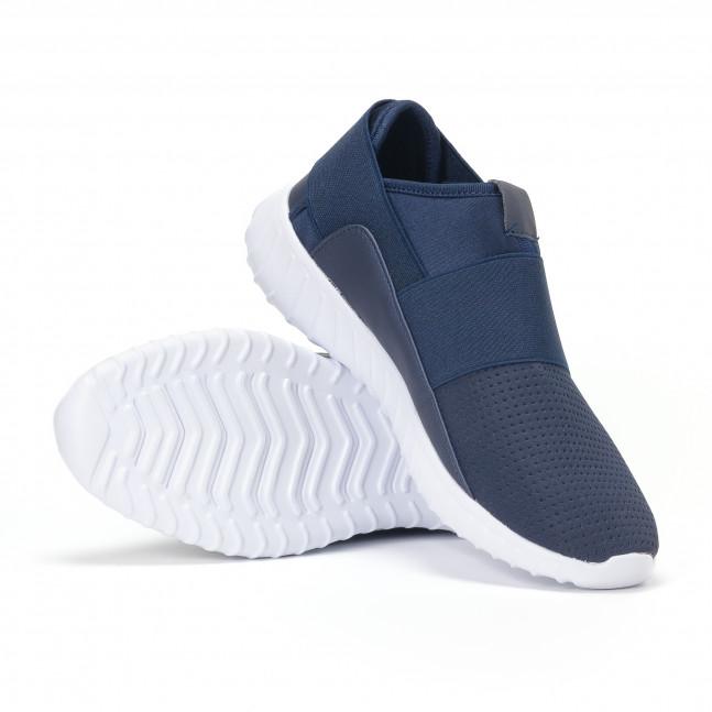 ... Ανδρικά μπλε αθλητικά παπούτσια κάλτσα με λάστιχο it160318-22 4 25e5bf1693e