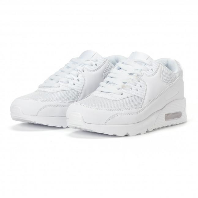 738e51ddeb7 ... Ανδρικά λευκά αθλητικά παπούτσια με σόλες αέρα it160318-2 3 ...