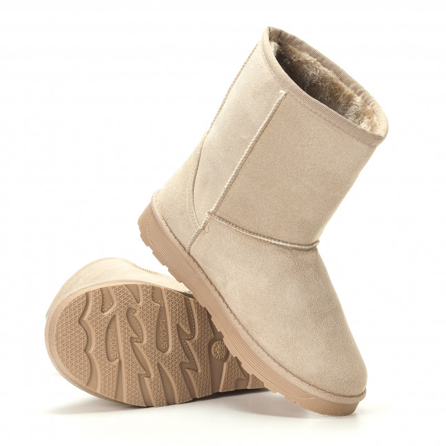 10f563d74c1 Γυναικεία μπεζ μποτάκια GoGo it251017-28 - Fashionmix.gr