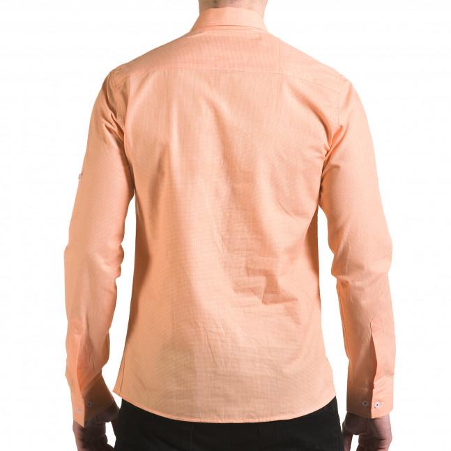 Ανδρικό πορτοκαλί πουκάμισο Buqra il170216-108 - Fashionmix.gr aa6965dbc11
