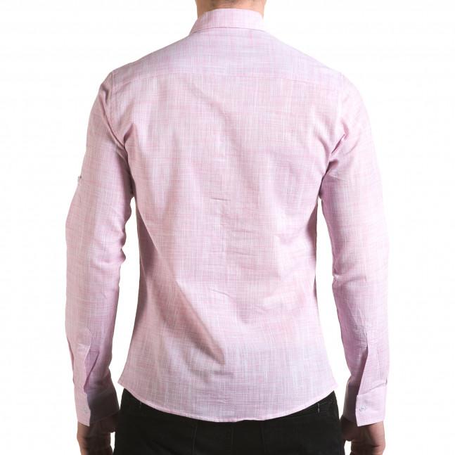 Ανδρικό ροζ πουκάμισο Buqra il170216-124 - Fashionmix.gr 2e0eafcaec0