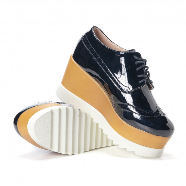 ... Γυναικεία μαύρα παπουτσια με πλατφορμα Tulipano it240118-33 5 49fb89caf2d