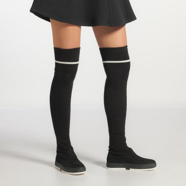 55321542669 ... Γυναικεία μαύρα μπότες πάνω από το γόνατο Ana Scarpe it251017-3 5 ...