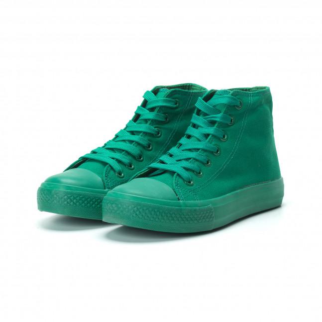 cbd718acc1f Γυναικεία πράσινα ψηλά sneakers it250119-77 - Fashionmix.gr