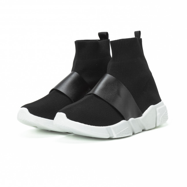 ... 2 Ανδρικά μαύρα Slip-on αθλητικά παπούτσια με δερμάτινη λεπτομέρεια  it150818-3 3 ... d3b92595027