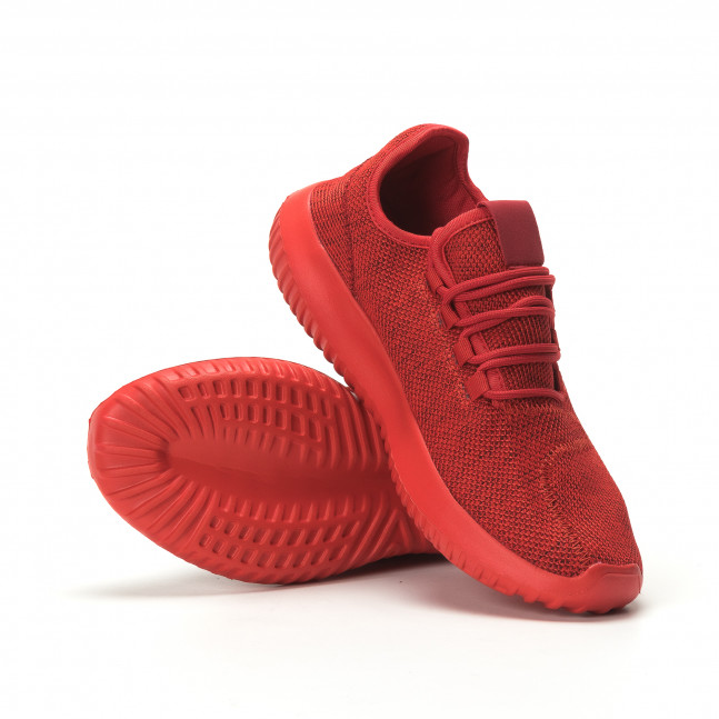e1ffebad900 Ανδρικά κόκκινα αθλητικά παπούτσια All Red ελαφρύ μοντέλο
