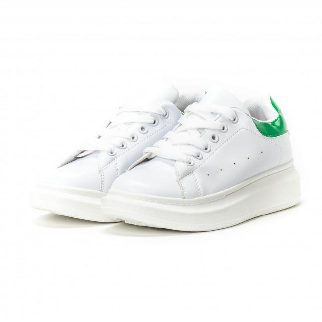 ... Γυναικεία λευκά sneakers με πράσινη λεπτομέρεια it150818-35 3 ... a3333a84a77